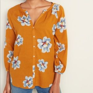 EUC Old Navy floral button front XXL